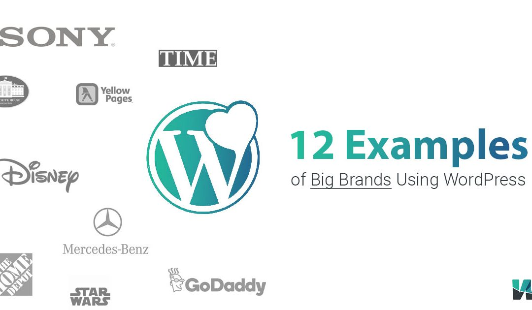 12 Examples of Big Brands – WordPress Website Examples