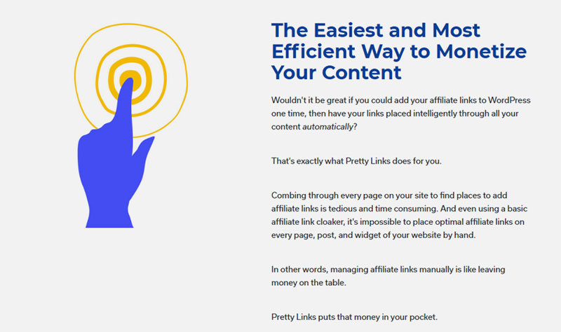 Pretty Links unlocks more affiliate revenue from your existing and new content automatically